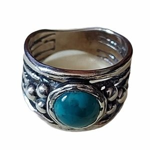 Size 6.5 Silver Turquoise Ring